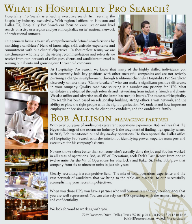 Hospitality Pro Search | Search for Hospitality and Restaurant Jobs